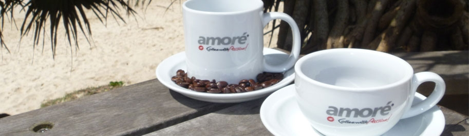 Amore Coffee 2 cups end of table